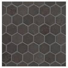1 hex gray lyric unglazed porcelain hexagon mosaic tile