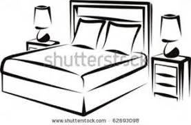 Bedroom Clipart by Bed Cartoon Black And White Cartoon Black And White Cartoon Black