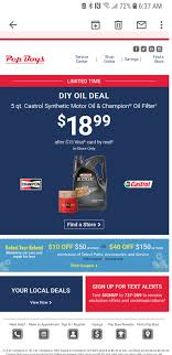 Pep Boys DIY Synthetic Oil And Filter $18.99 After Rebate ... Tires On Sale At Pep Boys Half Price Books Marketplace 8 Coupon Code And Voucher Websites For Car Parts Rentals Shop Clean Eating 5 Ingredient Recipes Sears Appliances Coupon Codes Michaelkors Com Spencers Up To 20 Off With Minimum Purchase Pep Battery Check Online Discount October 2018 Store Deals Boys Senior Mania Tires Boathouse Sports Code Near Me Brand