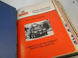 100 Mack Truck Accessories Vintage 1970s Dealer Master Manual Engine