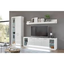 lomadox tv wand mailand 61 wohnwand in hochglanz weiß mit beleuchtung b h t 298 278 198 37 43cm kaufen otto