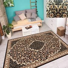 orientteppich teppich klassisch perser wohnzimmer kobalt