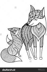 Pin Drawn Fox Coloring Page 4