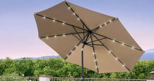 Solar Lighted Patio Umbrella by 10 Foot Solar Led Patio Umbrella Just 49 99 Shipped Regularly