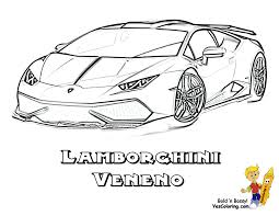 Free Download Lamborghini Coloring Pages