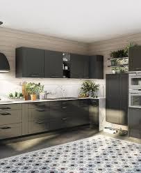cuisine gris ardoise modèle de cuisine norma ixina