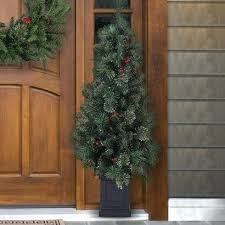 32 28 Socket Pre Wired Christmas Tree Artificial Trees Cashmere Mixed Porch 4 Pine