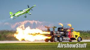 100 Jet Truck Shockwave Airplane Drag Race Cleveland National Airshow