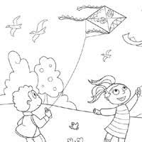 Kite Coloring Pages Surfnetkids