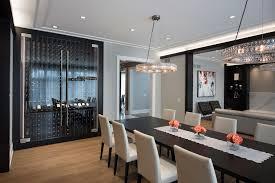 Modern Style Dining Room Custom Refrigerated Wine Cabinet