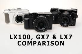 Panasonic Lumix LX100 GX7 LX7 Comparison Take II