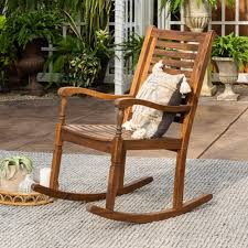Walker Edison Furniture Company Boardwalk Dark Brown Acacia Wood Outdoor  Rocking Chair Maracay Rocking Chair And Side Table Java Wicker Sunnydaze Allweather With Faux Wood Design Outdoor Chairstraditional Style Sherwood Natural Brown Teak Porch Chairs Curved Polyteak Extra Wide Midcentury Modern Samsonite Tubular Steel Polywood Jefferson Sand Patio Rocker Comfort Poly Amish Set Of 2 Seat Cushions Alfric Swivel W Blue Cambridge Fniture Black Palm Harbor