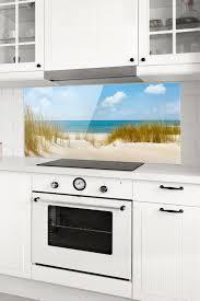 spritzschutz glas strand an der nordsee panorama