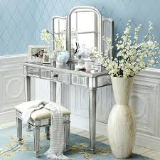 Vanity Table With Lighted Mirror Canada by Vanities Black Finish Tri Mirror Vanity Table And Stool Mirror