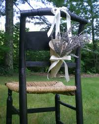 Khaki Burlap Pew Chair Cone With Tying Ribbons Rustic Wedding Decor Handmade By