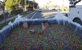 100 Truck Videos Youtube Of 2 People Riding In Bed Of Filled With GelLike Beads
