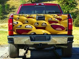100 Funny Truck Pics Amazoncom Emoji Balls Smile Tailgate Wrap Decal