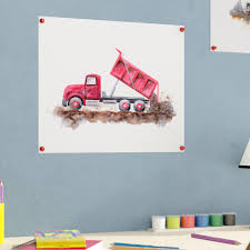 100 Trucks Paper Zoomie Kids Susan Construction Vehicles Dump Truck Print Wayfair