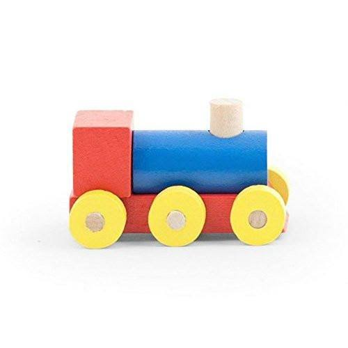 Kikkerland Mini Wood Puzzle Train Engine Car Model Kit Toy