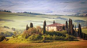 3840x2160 Wallpaper Italy Tuscany Summer Countryside Landscape Nature Trees