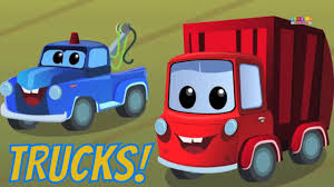 Zeek And Friends | Trucks Every Where | Car Rhymes | Kids Videos ...
