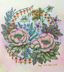 No 3 Completed Blomstermandala Mariatrolle Coloring Book
