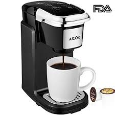 Aicok Single Serve Coffee Maker Machine With Removable Cover For Most Cup Pods