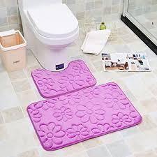 keainideni toilettenmatte 2st moderne badezimmermatte u