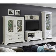 details zu wohnwand weiß landhaus anbauwand wohnzimmer set kashmir 1 in pinie inkl led