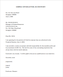 Gallery of Accountant Cover Letter Examples