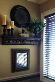 Old World Style Rustic Shelf Display