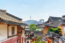 100 South Korea Houses Gorgeous View Of Black Tile Roofs Of Traditional N Houses