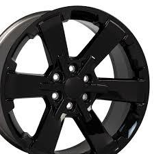 100 Chevy Truck Center Caps 22 Wheel Fits Silverado Rally CV41 22x9 Gloss Black Hollander