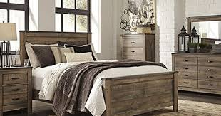 Sets For Sale Bedroom Trinell Queen Set Replicated Oak Grain Takes The Look Of Rustic Reclaimed Wood