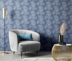 erismann 10152 08 decoration wandtapete grafisch blau tapete wohnzimmer