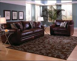 100 Modern Chic Living Room With Luxurious Dark Brown Leather Sofa And