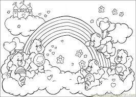 Printable Coloring Care Bears Cartoons