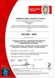 bureau veritas bourse tandem logistics our certifications