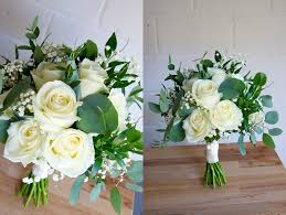 White Rustic Bridal Bouquet