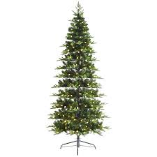 Slim Christmas Trees Prelit by C16 7 5 Ft Pre Lit Jacqueline Slim Christmas Tree With Warm White