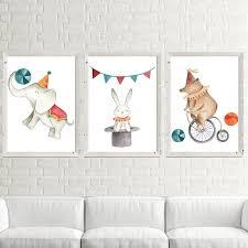 kreative circus tiere bär elefant maus reiten fahrrad dekorative malerei kinder schlafzimmer wohnzimmer bild leinwand