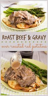 This Easy Recipe For Roast Beef And Gravy Served Over Potatoes Onions Is Perfect