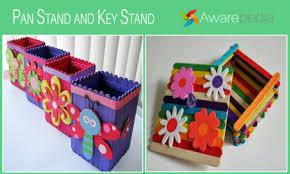 Art Crafts By Ice Cream Sticks Stick Craft Awarepedia