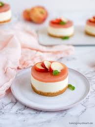 no bake pfirsich schmand törtchen bakingdaydream