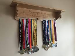 Solid Oak Medal Holder Shelf