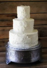 Rustic Buttercream Wedding Cake Tutorial Simple Rose Bakes