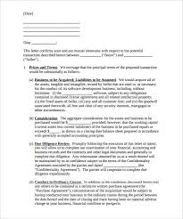 Purchase Letter Intent – 10 Free Word PDF Format Download