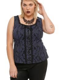 tripp navy u0026 black floral lace up corset plus size topic