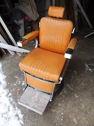 Ebay Antique Barber Chairs by Vintage Industrial Swiveling Reclining Belmont Barbers Chair