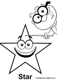 Shapes Printable Coloring Page Triangle Star
